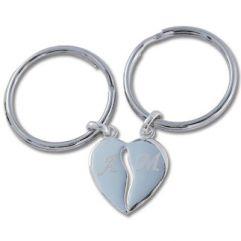 Cadeau Saint Valentin Porte-clés coeur sécable