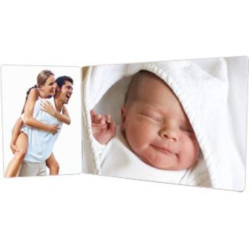 Cadre en bois avec photo bébé