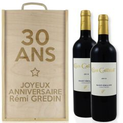 Caisse à vin 2 bouteilles Anniversaire
