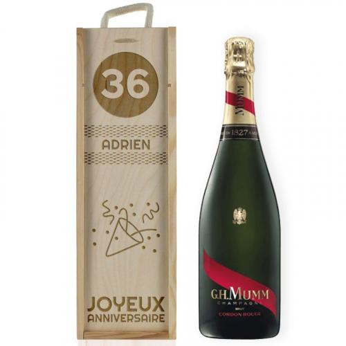 coffret personnalisé anniversaire pour bouteille de champagne