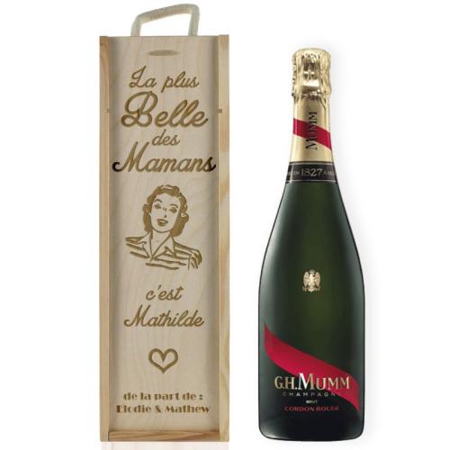 Coffret à vin Maman personnalisée