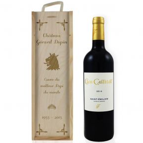 Caisse à vin tradition gravée