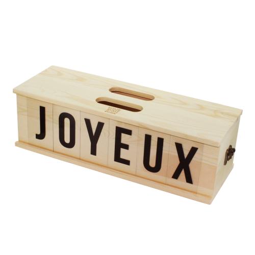 Caisse à vin convertible panneau texte