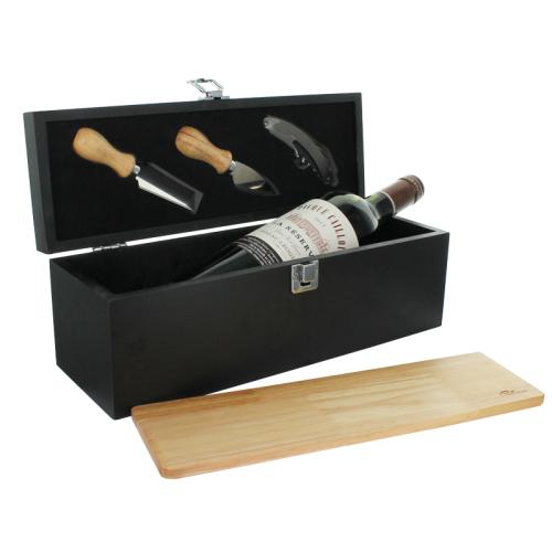 Caisse à vin et planche à découper personnalisés