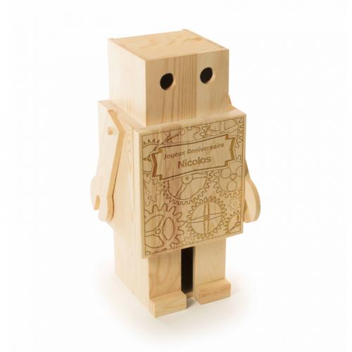 Caisse à vin robot personnalisée