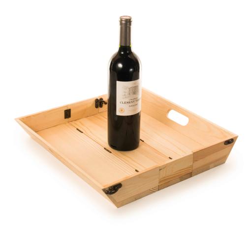 Plateau de vin personnalisé
