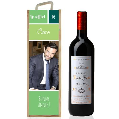 Coffret à vin sublimé photo vert