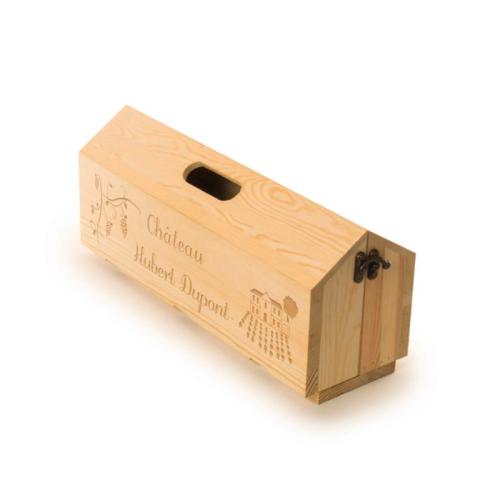 Caisse à vin plateau personnalisée