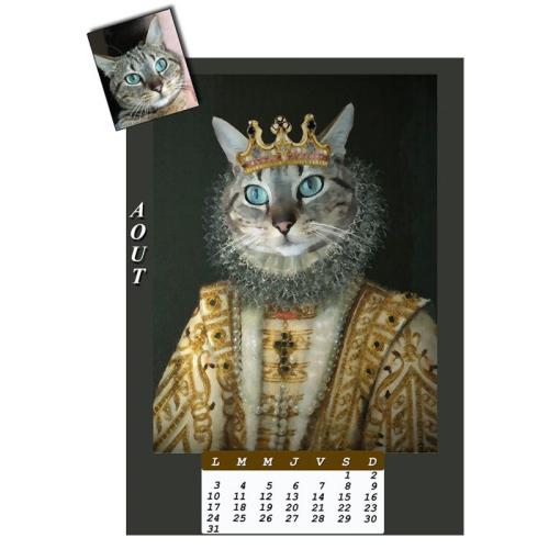Calendrier chat personnalisé