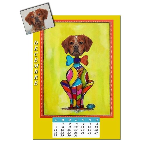 Calendrier chien personnalisé