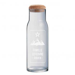 Carafe en verre avec bouchon 1L personnalisée