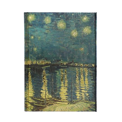 Carnet A5 Nuit étoilée sur le Rhône de Vincent Van Gogh