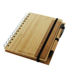 Carnet de note en bambou personnalisé