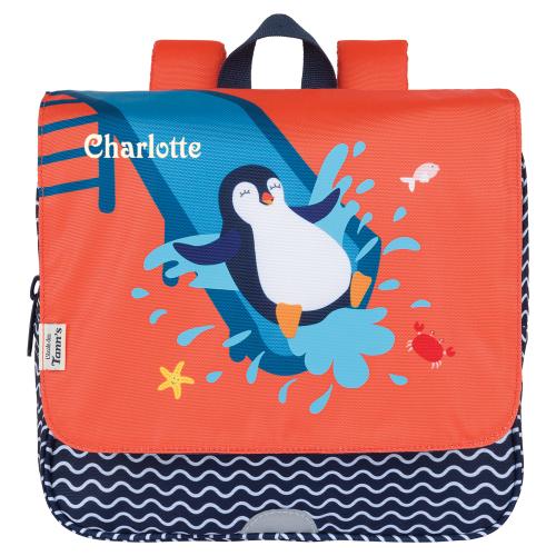 Cartable maternelle ou primaire personnalisable Tann's - Pingouin