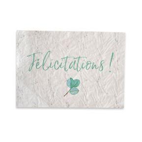 Carte végétale à planter Félicitations