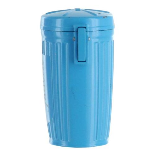 Cendrier de poche personnalisé poubelle bleu