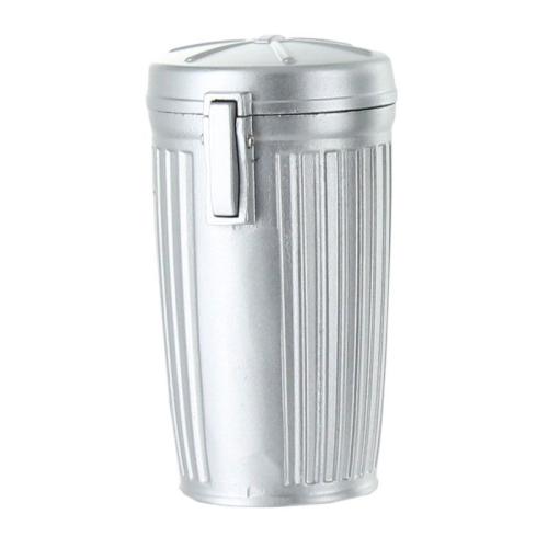 Cendrier de poche personnalisé poubelle chrome