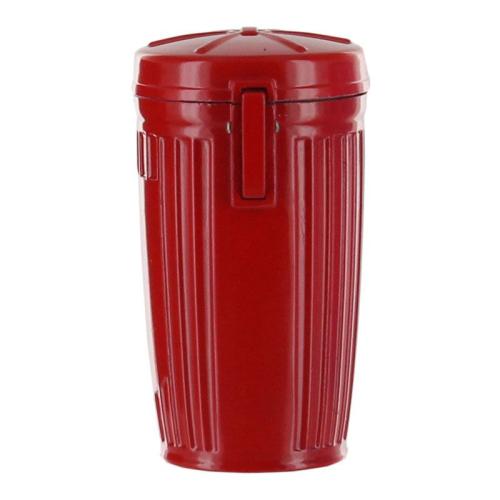 Cendrier de poche personnalisé poubelle rouge