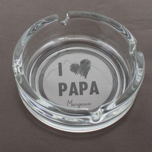 Cendrier I love Papa