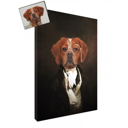Portrait chien oeuvre d'art personnalisé Joseph