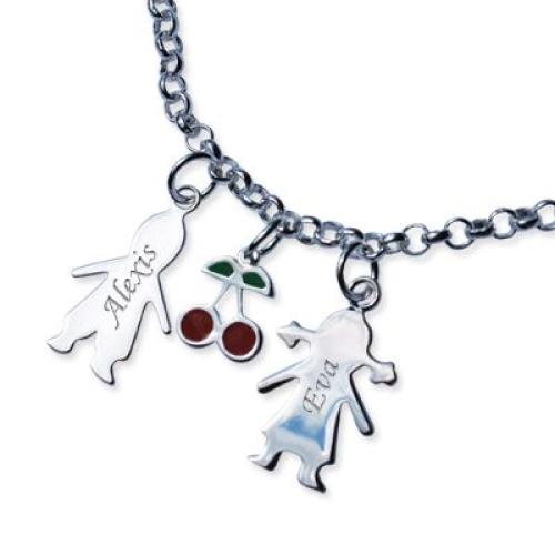 Bracelet chaine et chérubins à composer