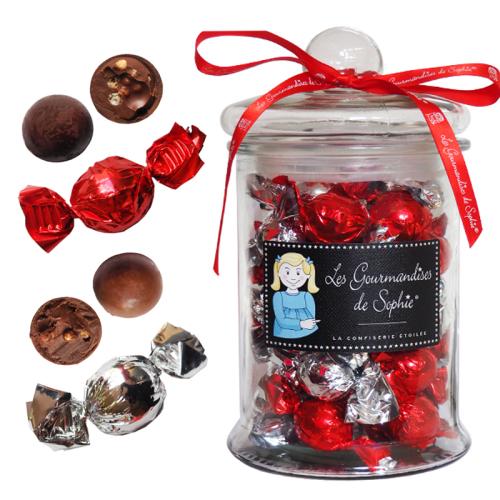 Bonbonnière de papillotes de chocolat