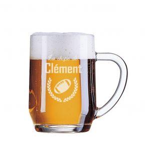 Chope de bière du sportif personnalisée