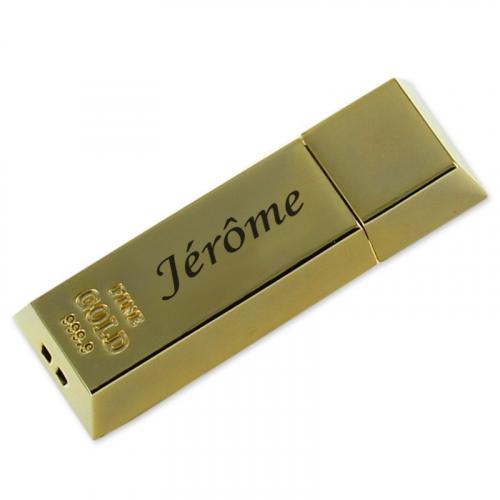 Clé USB lingot gravée