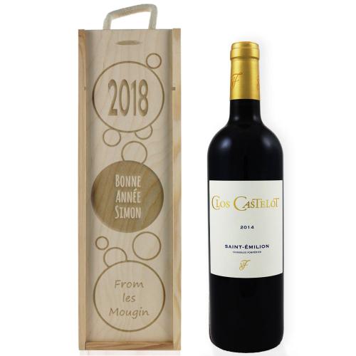 Coffret à vin 2018 gravé