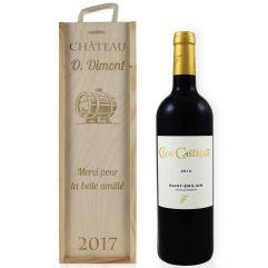 Caisse à vin classique gravée