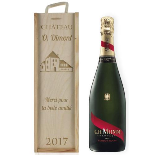 Coffret à champagne gravé