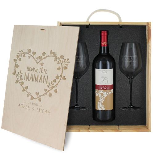 Coffret à vin Fête des Mères