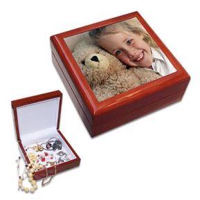 Coffret à bijoux carré personnalisé