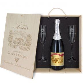 Coffret à Champagne personnalisé Amour