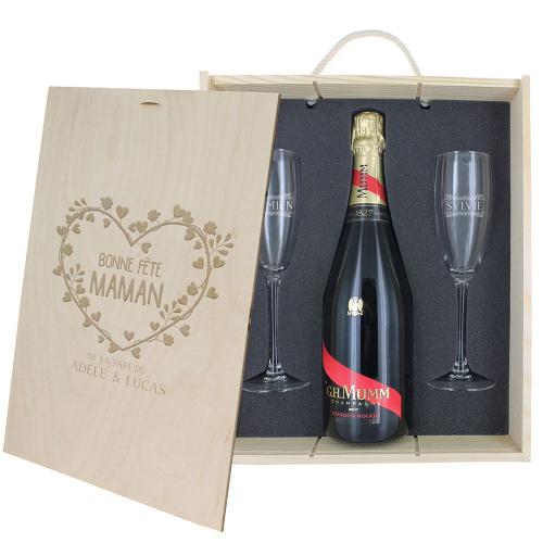 Coffret champagne bonne fête Maman