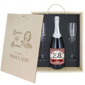 Coffret à Champagne personnalisé  Fête des Mères