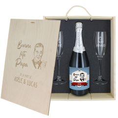 Coffret à Champagne personnalisé Fête des Pères