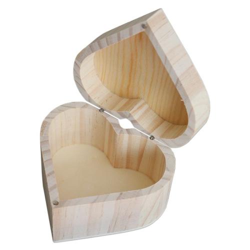 Coffret coeur en bois gravé