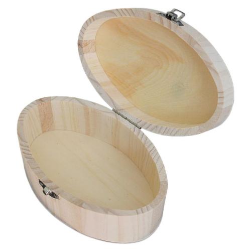 Coffret ovale  en bois gravé