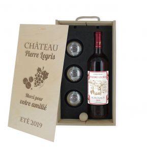 Coffret vin et pétanque personnalisés Tradition