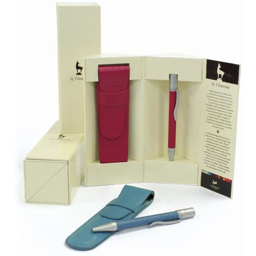 Coffret stylo et étui en cuir personnalisé