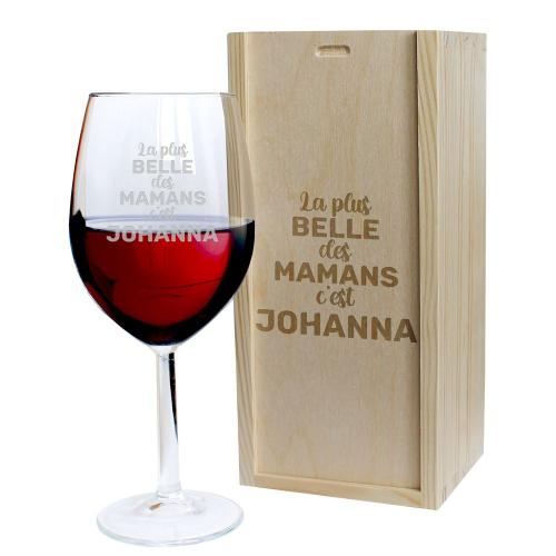 Coffret verre à vin Maman