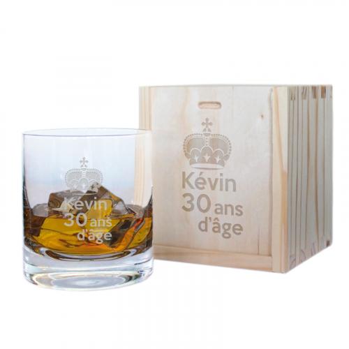 Coffret verre à whisky anniversaire