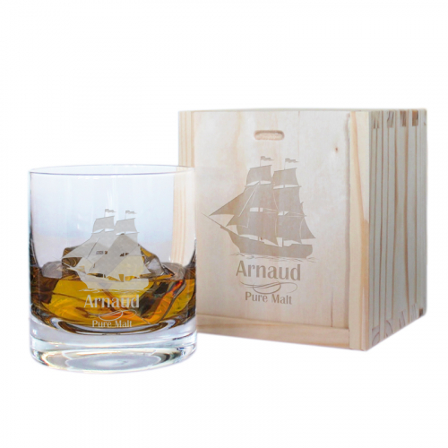 Coffret verre à whisky grand large