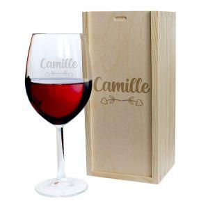Verre à vin Amour gravé