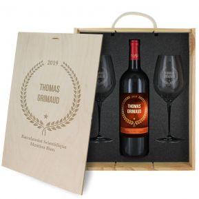 Coffret à vin 3 pièces personnalisé Award