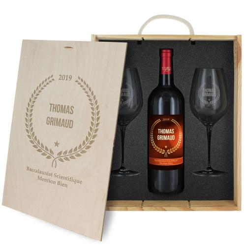 Coffret à vin personnalisé Award