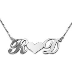 Collier initiales couple