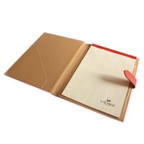 Conférencier cuir porte-documents A4