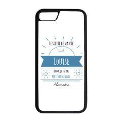 Coque iPhone ou Galaxy personnalisée message ensoleillé